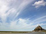 モンサンミッシェルと雲